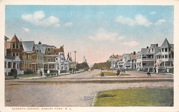 Seventh Avenue Asbury Park, New Jersey Postcard