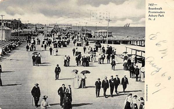 Boardwalk Promenaders Asbury Park, New Jersey Postcard