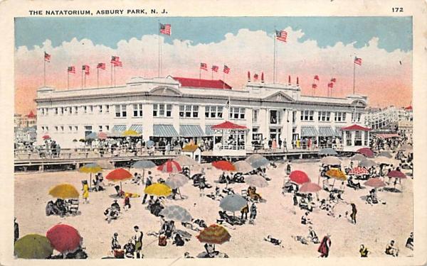 The Natatorium Asbury Park, New Jersey Postcard