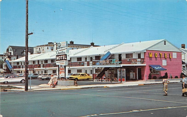 New Asbury Charline Motel Asbury Park, New Jersey Postcard