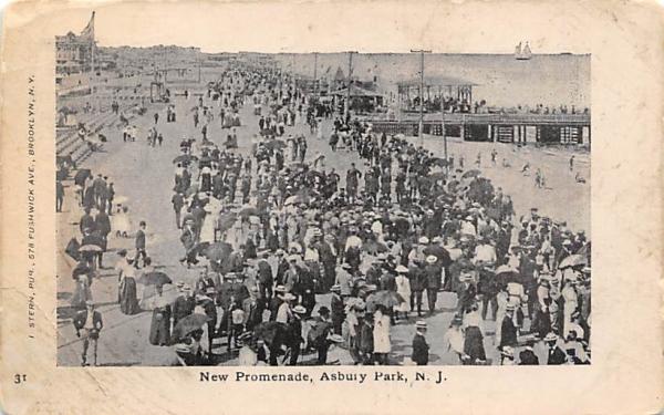 New Promenade Asbury Park, New Jersey Postcard