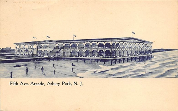 Fifth Ave. Arcade  Asbury Park, New Jersey Postcard