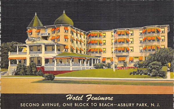 Hotel Fenimore Asbury Park, New Jersey Postcard
