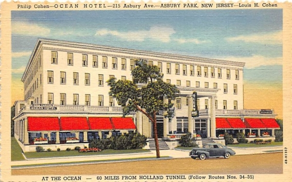 Ocean Hotel Asbury Park, New Jersey Postcard