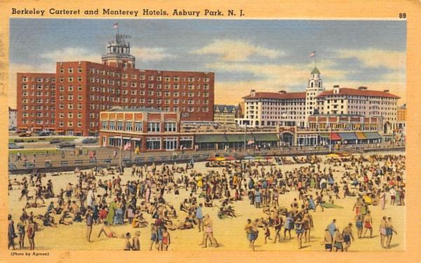 Berkeley Carteret and Monterey Hotels Asbury Park, New Jersey Postcard