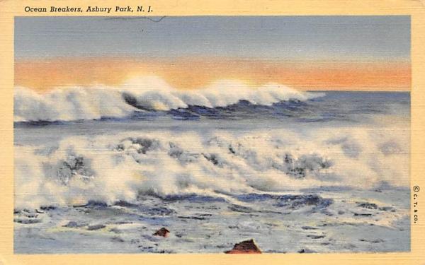 Ocean Breakers Asbury Park, New Jersey Postcard