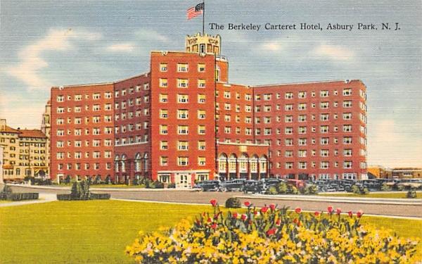 The Berkeley Carteret Hotel Asbury Park, New Jersey Postcard