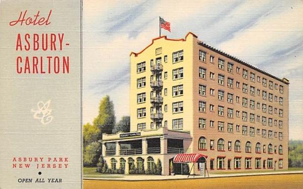 Hotel Asbury-Carlton Asbury Park, New Jersey Postcard