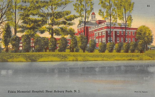 Fitkin Memorial Hospital, Near Asbury Park New Jersey Postcard
