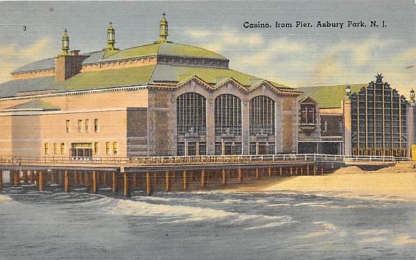 Casino, from Pier Asbury Park, New Jersey Postcard