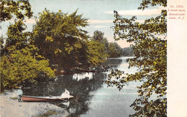 A shady nook Almonesson Lake, New Jersey Postcard