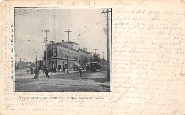 Corner of State and Smith Sts. Asbury Park, New Jersey Postcard