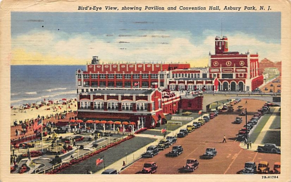 Pavilion and Convention Hall Asbury Park, New Jersey Postcard