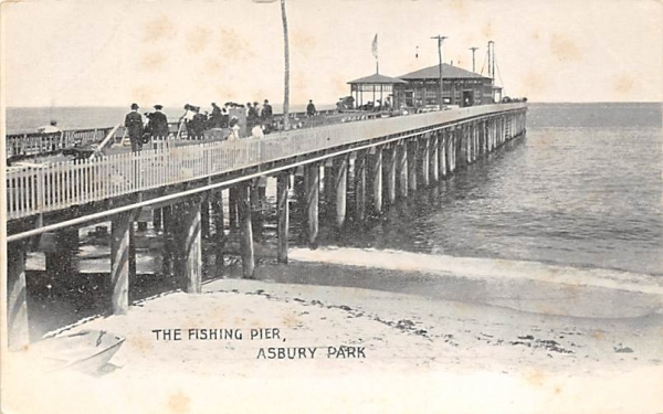 The Fishing Pier Asbury Park, New Jersey Postcard