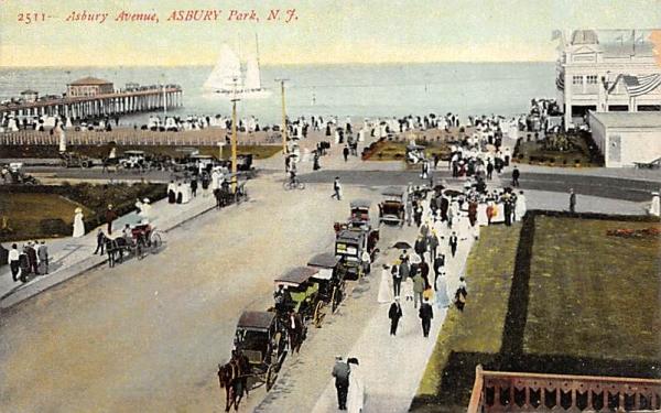 Asbury Avenue Asbury Park, New Jersey Postcard