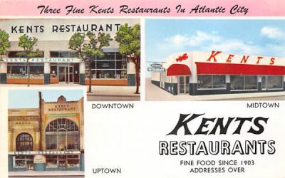 Kents Restaurants  Atlantic City, New Jersey Postcard
