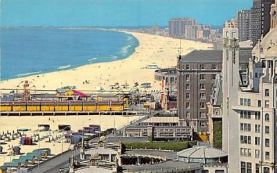 bathing beach, ocean, and amusement Atlantic City, New Jersey Postcard