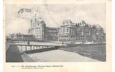 The Marlborough-Blenheim Hotel  Atlantic City, New Jersey Postcard