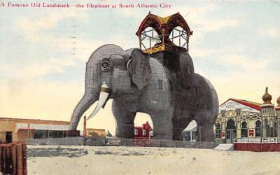 A Famous Old Landmark Atlantic City, New Jersey Postcard