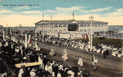 Baby Parade Asbury Park, New Jersey Postcard