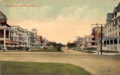 6th Avenue Asbury Park, New Jersey Postcard