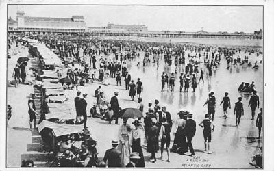 A Busy Day Atlantic City, New Jersey Postcard