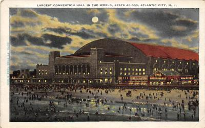 Largest Convention Hall in the World Atlantic City, New Jersey Postcard