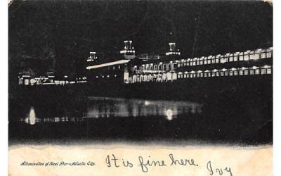 Illumination of Steel Pier Atlantic City, New Jersey Postcard