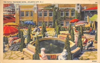 The Patio, Traymore Hotel Atlantic City, New Jersey Postcard