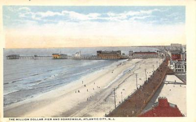 The Million Dollar Pier and Boardwalk Atlantic City, New Jersey Postcard
