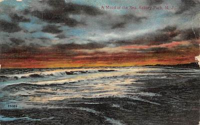 A Mood of the Sea Asbury Park, New Jersey Postcard