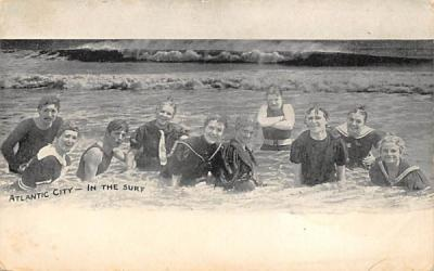 In the Surf Atlantic City, New Jersey Postcard