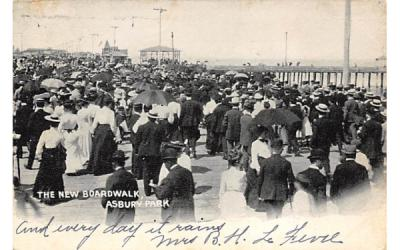 The New Broadwalk Asbury Park, New Jersey Postcard