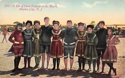 A Lot of Good Friends at the Beach Atlantic City, New Jersey Postcard