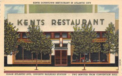 Kents Downtown Restaurant in Atlantic City New Jersey Postcard