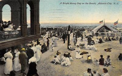 A Bright Sunny Day on the Beach Atlantic City, New Jersey Postcard