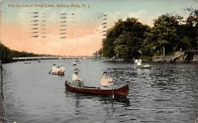 Idle Hours on Deal Lake Asbury Park, New Jersey Postcard