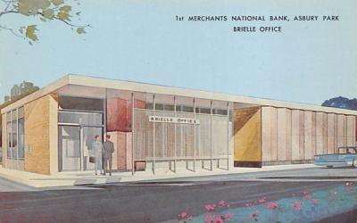 1st Merchants Nationl Bank, Brielle Office Asbury Park, New Jersey Postcard