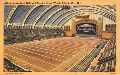 Largest Convention Hall and Theatre in the World Atlantic City, New Jersey Postcard