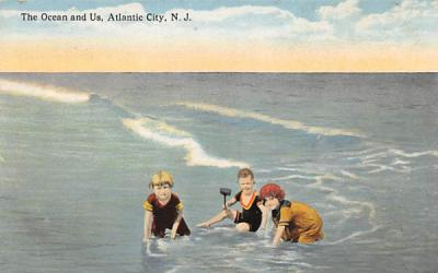 The Ocean and Us Atlantic City, New Jersey Postcard