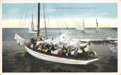 A Yachting Party Atlantic City, New Jersey Postcard