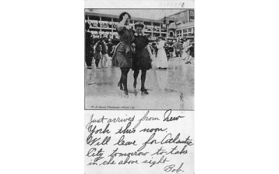 A Beach Promenade Atlantic City, New Jersey Postcard