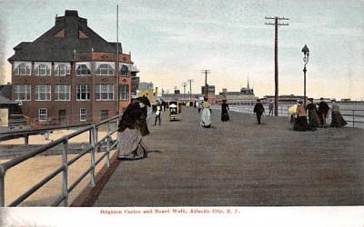 Brighton Casino and Board Walk Atlantic City, New Jersey Postcard