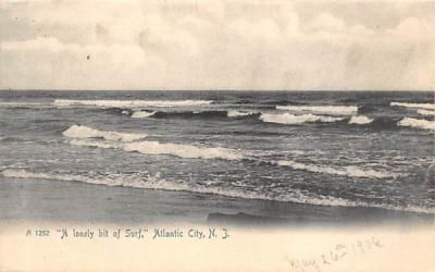 A lonely bit of Surf Atlantic City, New Jersey Postcard