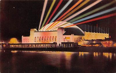 Convention Hall at night Atlantic City, New Jersey Postcard