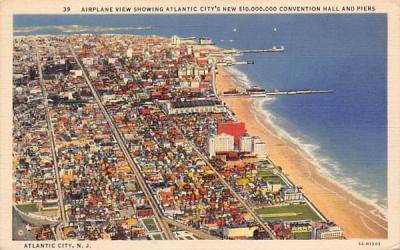 $10,000,000 Convention Hall and Piers Atlantic City, New Jersey Postcard