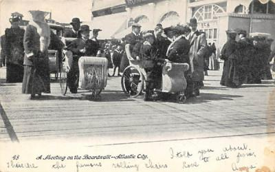 A Meeting on the Boardwalk Atlantic City, New Jersey Postcard