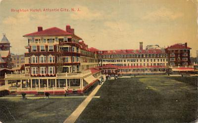 Brighton Hotel Atlantic City, New Jersey Postcard