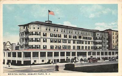 Bristol Hotel Asbury Park, New Jersey Postcard