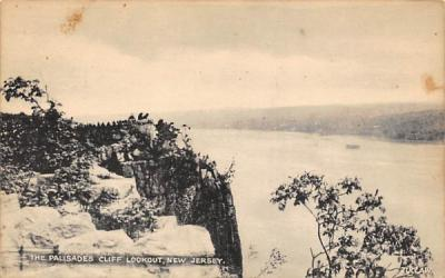 The Palisades Cliff Lookout Alpine, New Jersey Postcard